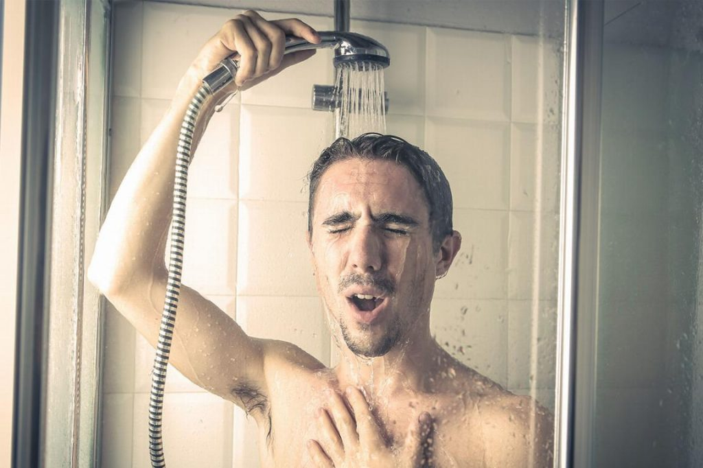 cold showers due to low hot water pressure