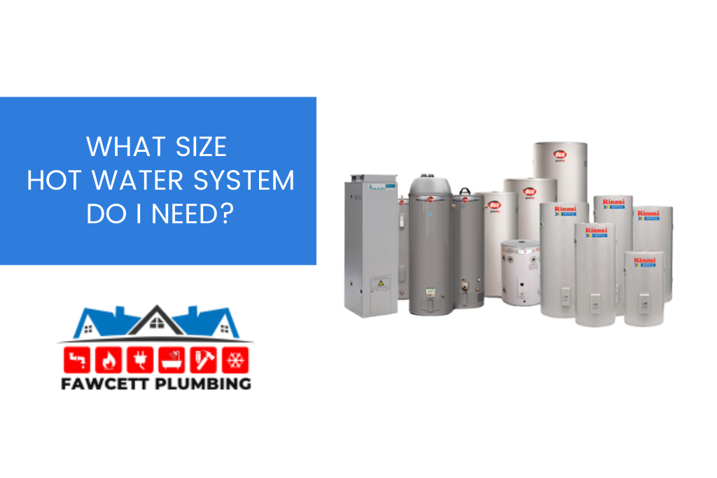 hot water system sizes banner image