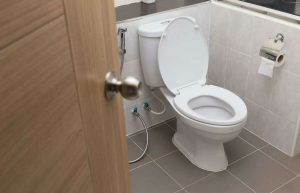 measuring a toilet rough in