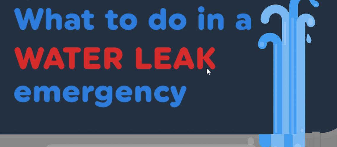 water leak emergency banner